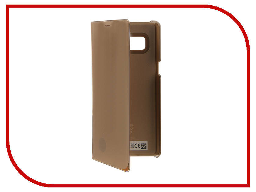Аксессуар Чехол Samsung Galaxy Note 8 Clear View Standing Cover Great Gold EF-ZN950CFEGRU чехол для сотового телефона samsung s view cover s7 edge gold ef cg935pfegru