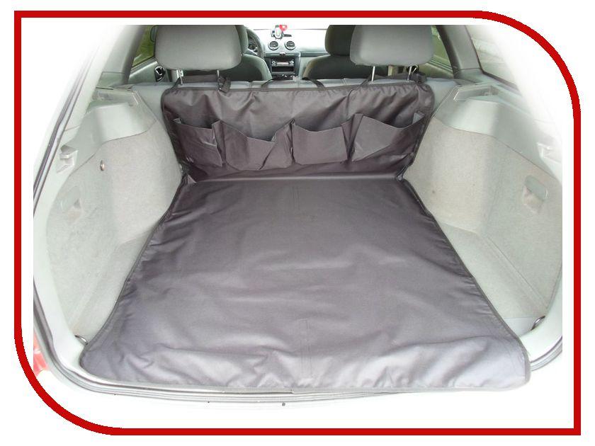 Органайзер AvtoPoryadok Защитная накидка в багажник с карманами Black B17200Bl накидка коврик защитная rexxon на бампер и багажник 100 х 72 см