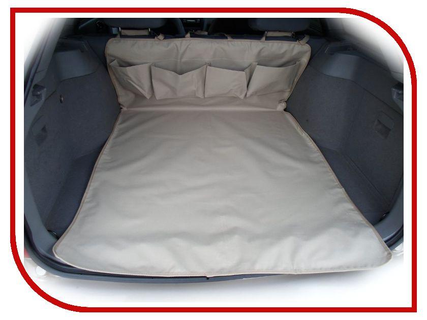 Органайзер AvtoPoryadok Защитная накидка в багажник с карманами Beige B17202Be накидка коврик защитная rexxon на бампер и багажник 100 х 72 см