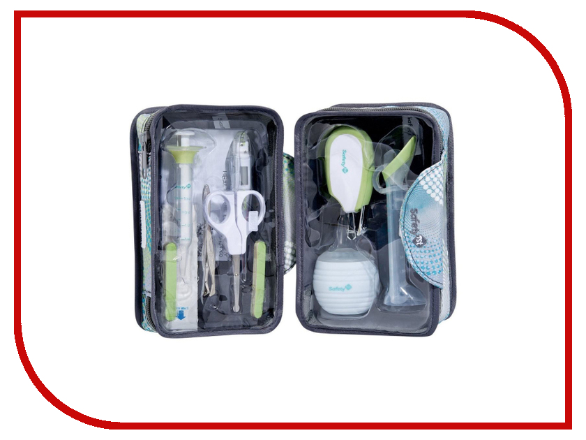 Детские ножницы Safety 1st Набор по уходу за малышом в футляре White-Green-Gray 32110139