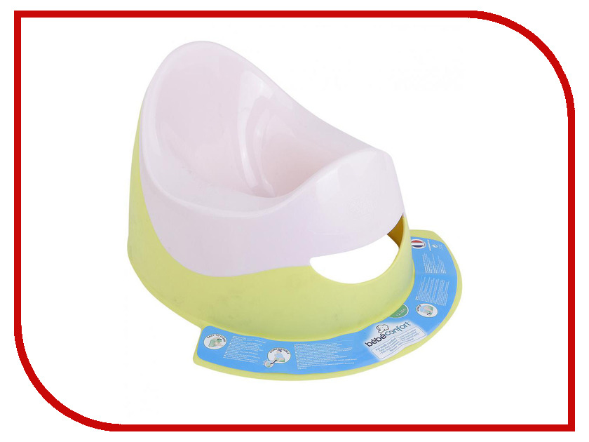 Горшок с подножкой Bebe Confort Lime Green Pink 30318300 bebe confort шлем мягкий защитный