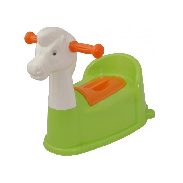 Горшок Pilsan Horse Green 07-532 детский горшочек кресло pilsan bobo цвет голубой 07 505