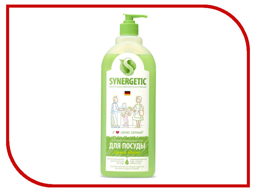 Средство для мытья посуды Synergetic Яблоко 1L 4623721671456