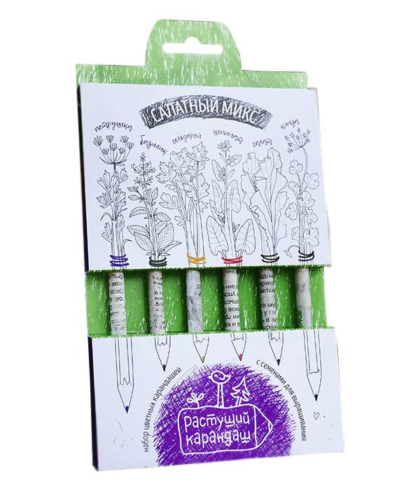 Растение Растущий карандаш Салатный микс цветные 6шт RK-02-06-02