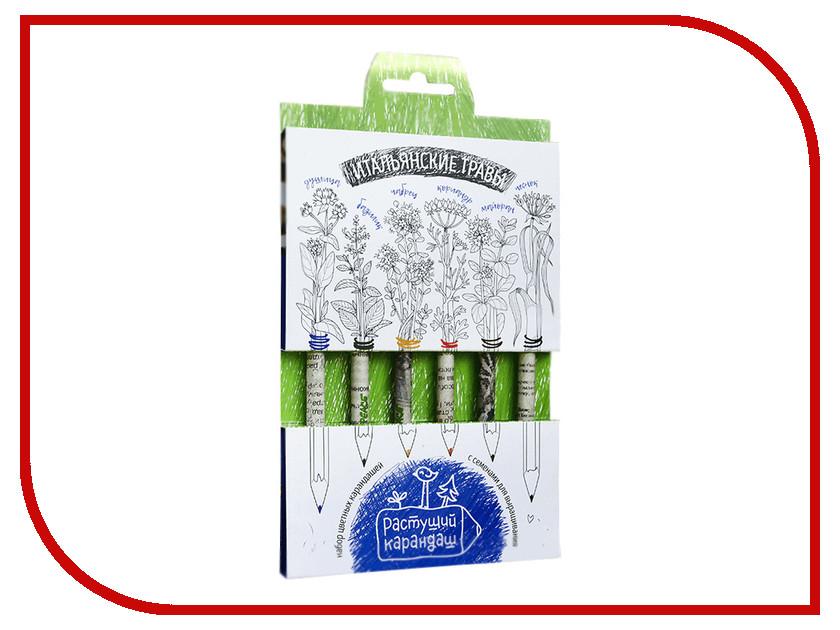 Растение Растущий карандаш Итальянские травы цветные 6шт RK-02-06-04