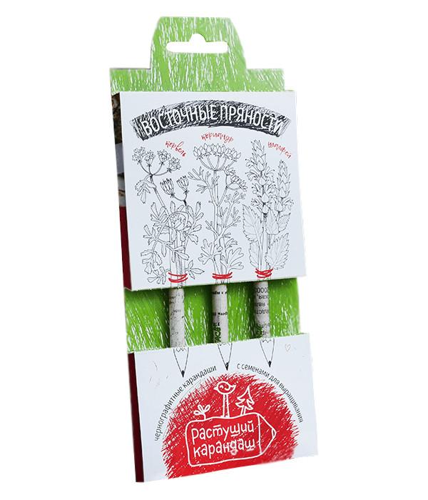 Растение Растущий карандаш Восточные пряности чернографитные 3шт RK-01-03-05