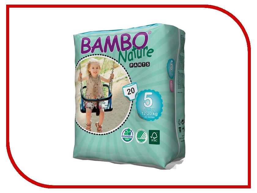 цены Подгузники Bambo Nature Pants Junior Трусики 12-20кг 20шт 310138
