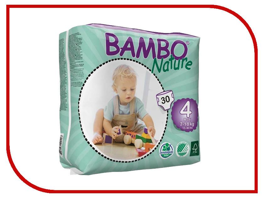 Подгузники Bambo Nature Max 7-18кг 30шт 310134