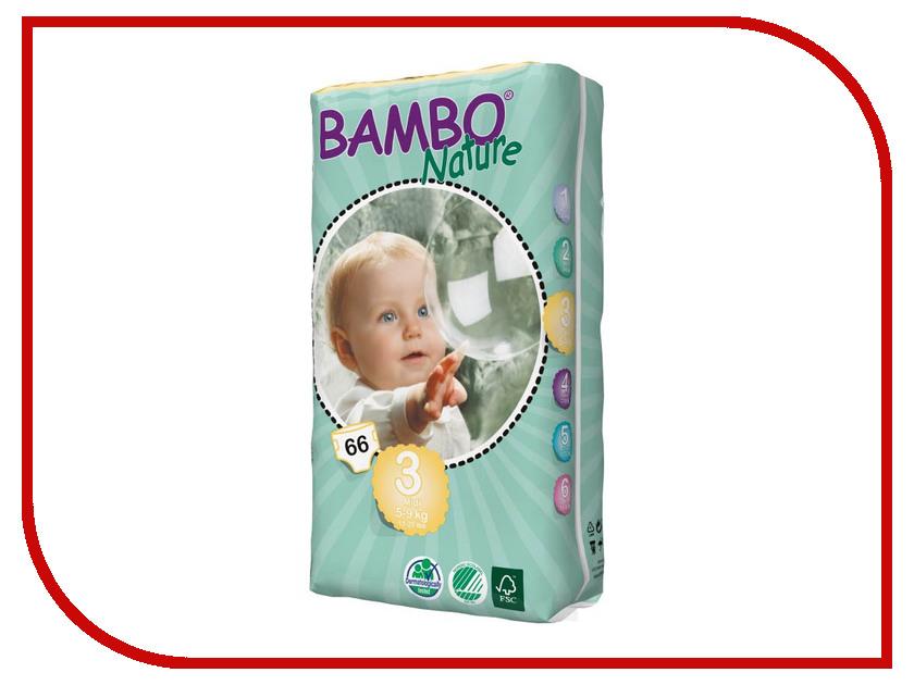 Подгузники Bambo Nature Midi 5-9кг 66шт 310143 одноразовые подгузники libero baby soft midi 4 9кг 70шт