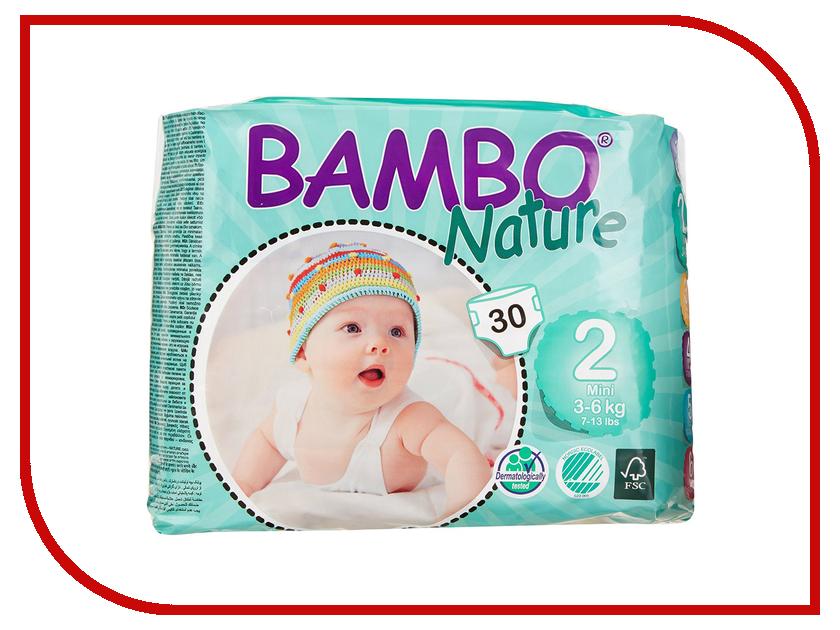 Подгузники Bambo Nature Mini 3-6кг 30шт 310132 подгузники bambo nature junior 12 22кг 54шт 310145