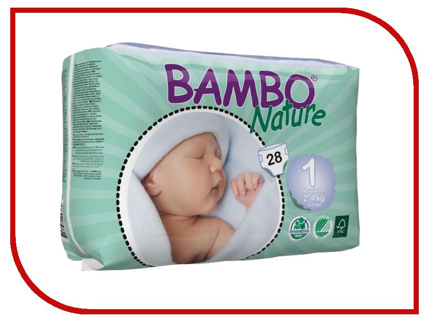 Подгузники Bambo Nature Newborn 2-4кг 28шт 310131 подгузники bambo nature junior 12 22кг 54шт 310145