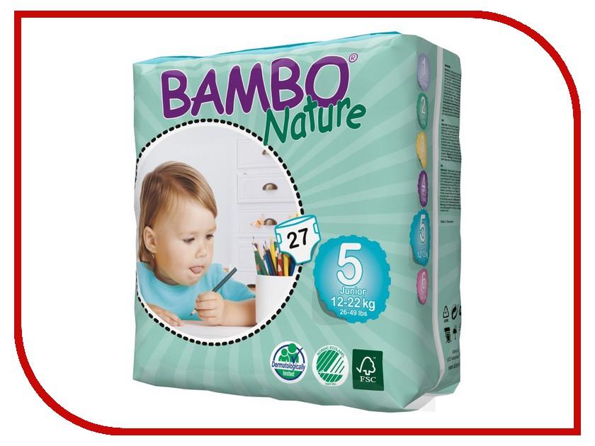 Подгузники Bambo Nature Junior 12-22кг 27шт 310135 подгузники bambo nature junior 12 22кг 54шт 310145