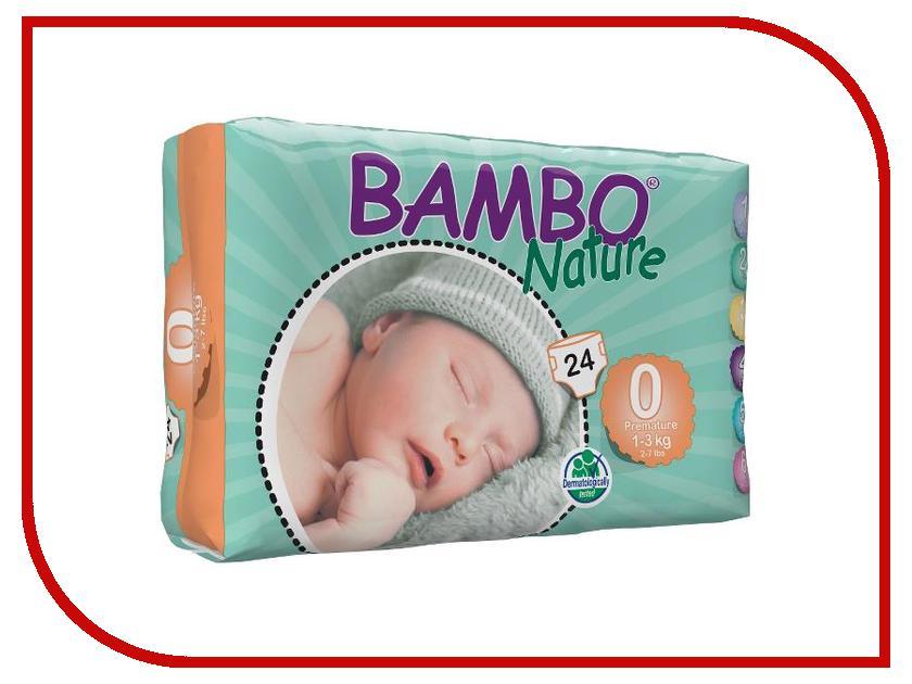 Фото Подгузники Bambo Nature Premature 1-3кг 24шт 310130