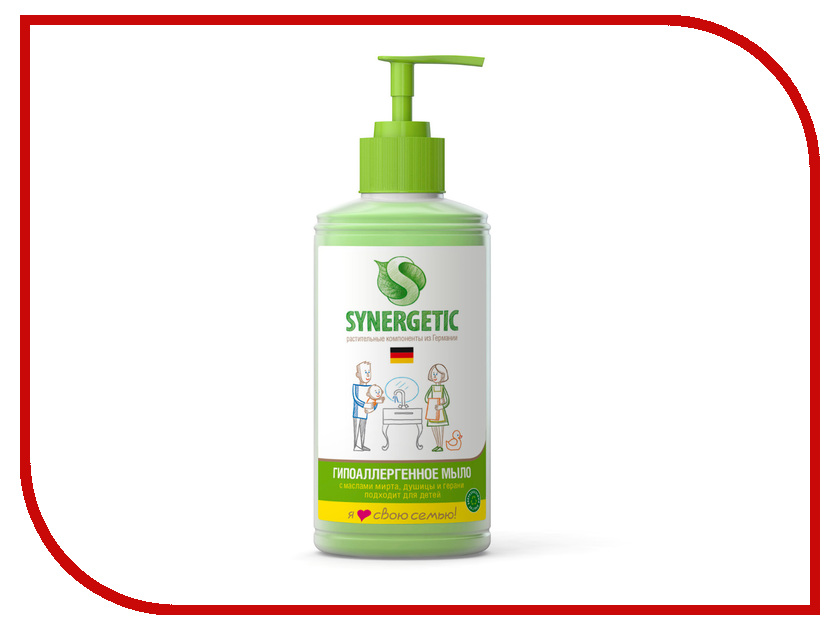 Жидкое мыло Synergetic 0.25L 4613720438969 жидкое мыло siberina жидкое мыло гипоаллергенное