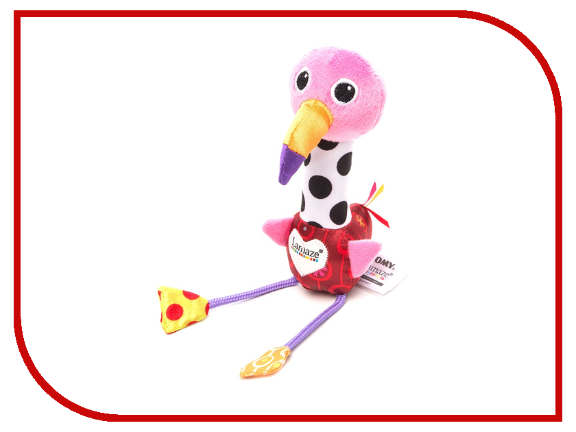 Игрушка Tomy Lamaze Веселый розовый фламинго LC27611 / ТО27611