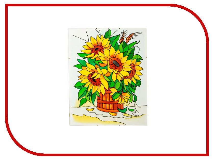 Набор для рисования Искусство витража Витражная картина Подсолнухи