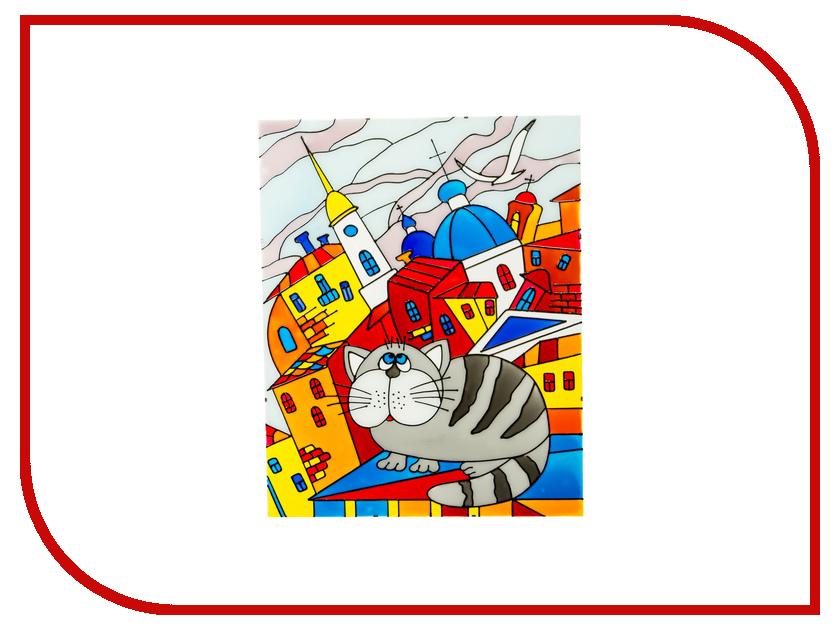 Набор Искусство витража Витражная картина Кот на крыше заглушка на крыше опель