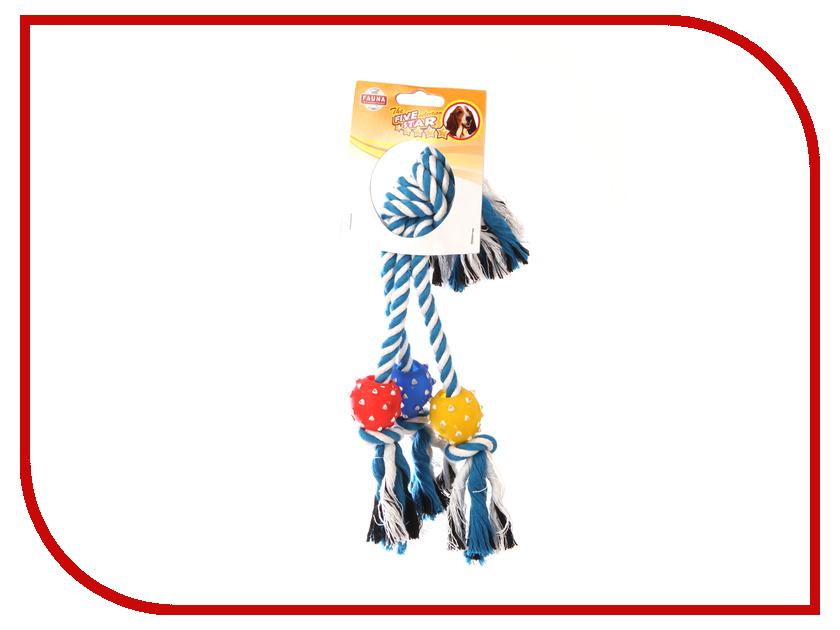 Игрушка Fauna International FIRT-0022 Мяч на верёвке 40cm для собак 52021