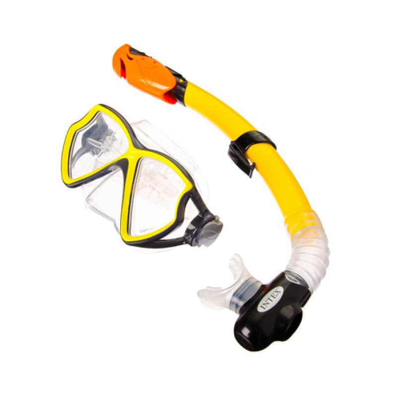 Набор маска + трубка Intex Silicone Aviator Pro Swim 55960