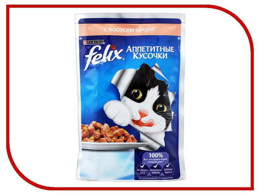 Корм Felix Лосось аппетитные кусочки в желе 85g для кошек 12318918