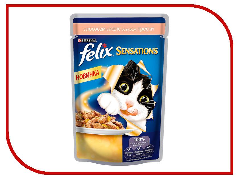 Корм Felix Sensations Лосось и треска 85g для кошек 12318961