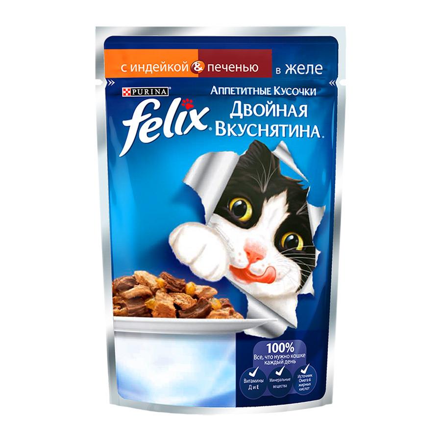 Корм Felix Двойной вкус Индейка - печень 85g 12294936