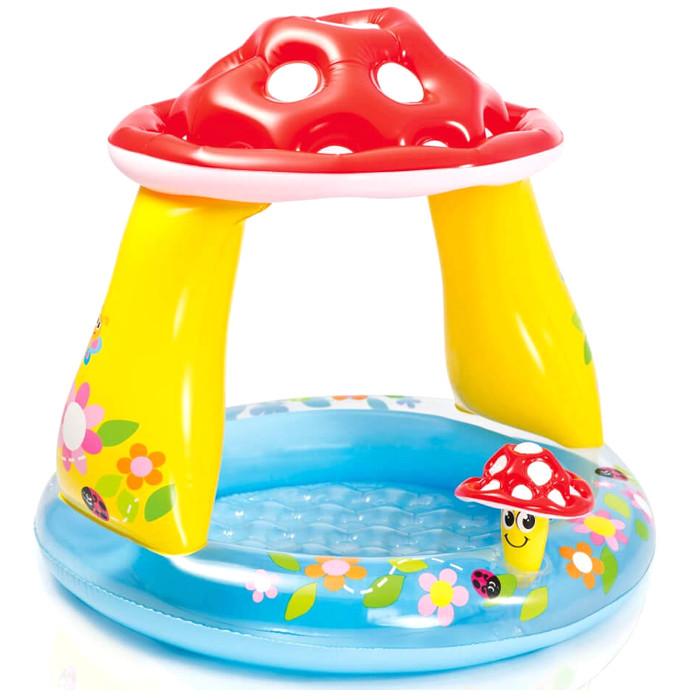 Детский бассейн Intex Гриб Мухомор с навесом 102x89cm 57114