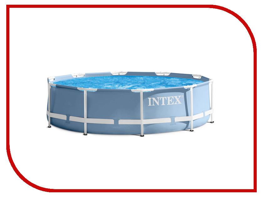 Бассейн Intex Prism Frame 305x76cm 28700 каркасный бассейн intex prism frame 300x175x80 см сборный каркасный бассейн серии intex prism frame прямоугольной формы с фильтр насосом и лестн 3539л