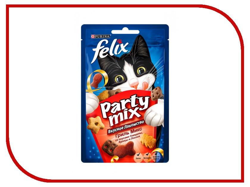 Лакомство Felix Party Mix Гриль микс Говядина Курица Лосось 20g для кошек 12237743