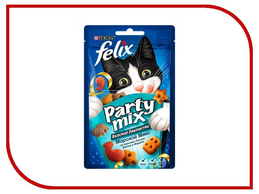 Лакомство Felix Party Mix Морской микс Лосось Треска Форель 20g для кошек 12237744