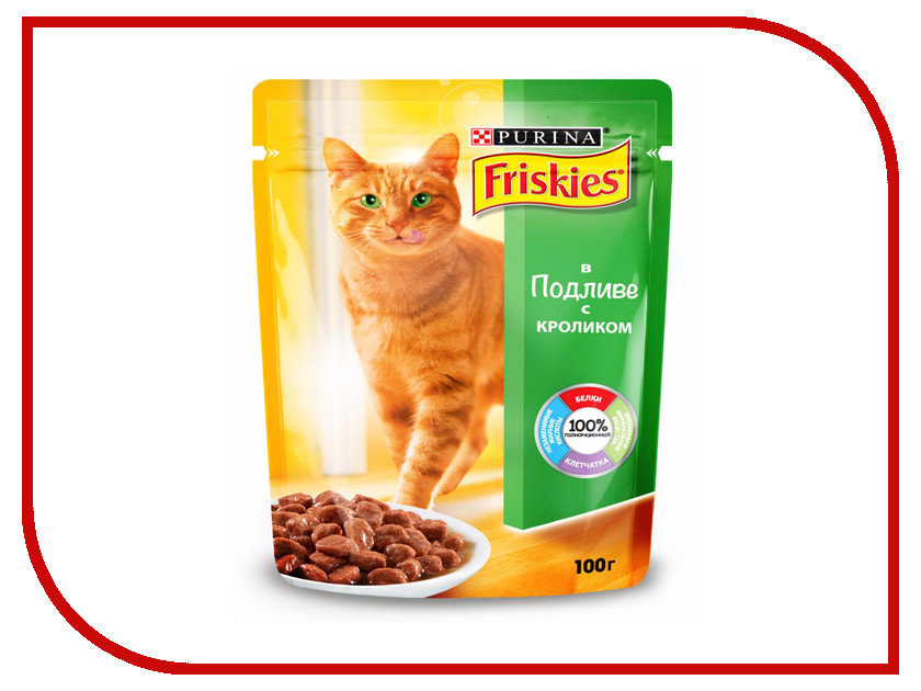 Корм Friskies Adult Кролик в подливе 100g для кошек 12227705