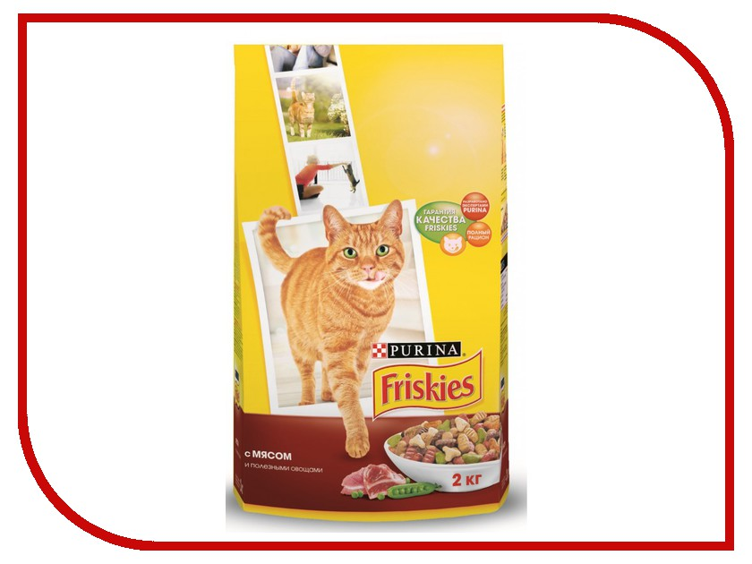 Корм Friskies Adult Мясо с полезными овощами 2kg для кошек 12053767 купить бутылки декоративные с овощами