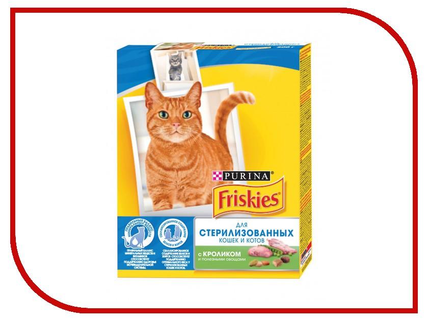 Корм Friskies Sterilised Кролик и Овощи 300g для стерилизованных кошек 12274331 корм сухой для кошек friskies с мясом печенью и зелеными овощами 10 кг