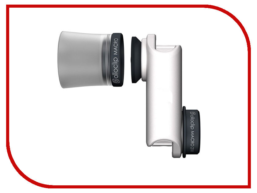 Гаджет Объектив Olloclip Macro 3-in-1 OC-0000138-EA для iPhone 6/6 Plus White объектив olloclip 4 in 1 lens oc 0000113 eu silver lens black clip чехол ollocase for iphone 6 plus matte smoke black