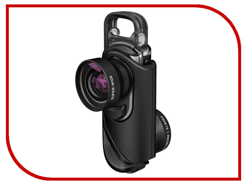 Аксессуар Объектив Olloclip Core Lens Set для iPhone 7/7 Plus OC-0000213-EU Black объектив olloclip 4 in 1 lens oc 0000113 eu silver lens black clip чехол ollocase for iphone 6 plus matte smoke black