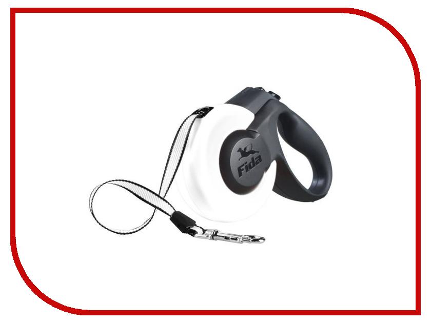 Рулетка Fida Mars 5m до 15kg White Black 5135488 акустические кабели black rhodium tango white 2 5m