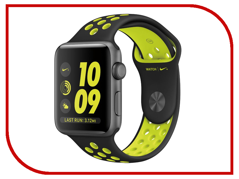 Zakazat.ru: Умные часы APPLE Watch Series 2 Nike+ 42mm Space Grey Aluminum Case with Black-Volt Nike Sport Band MP0A2RU/A