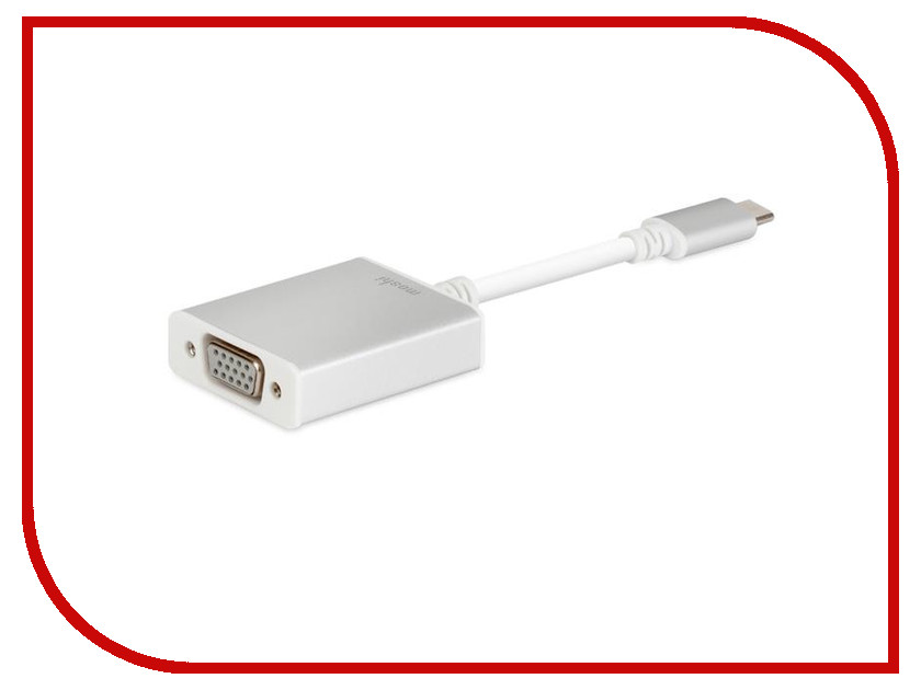 Аксессуар Адаптер Moshi USB-C - VGA Adapter 99MO084201 50pcs micro usb 3 0 male to usb c usb 3 1 type c female extension data cable for macbook tablet 10cm by fedex
