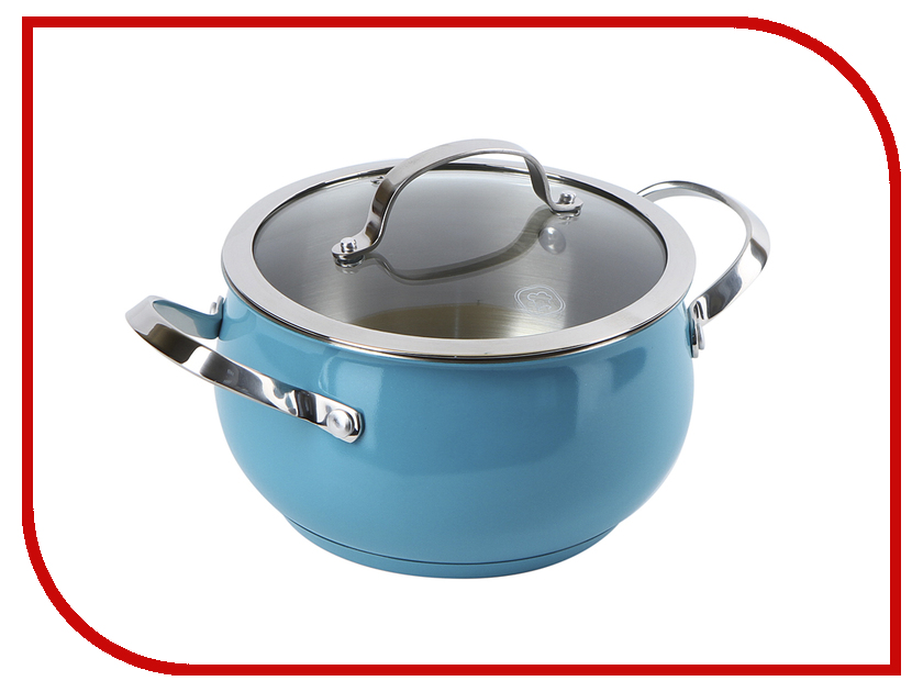 Кастрюля Rondell 18cm 2.8L Turquoise RDS-717 rondell turquoise 5 8 л