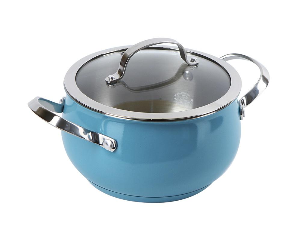 Кастрюля Rondell 18cm 2.8L Turquoise RDS-717 ковш rondell rds 716 turquoise