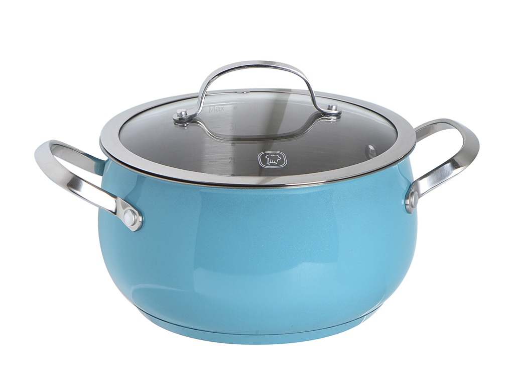 Кастрюля Rondell 3.8L Turquoise RDS-718
