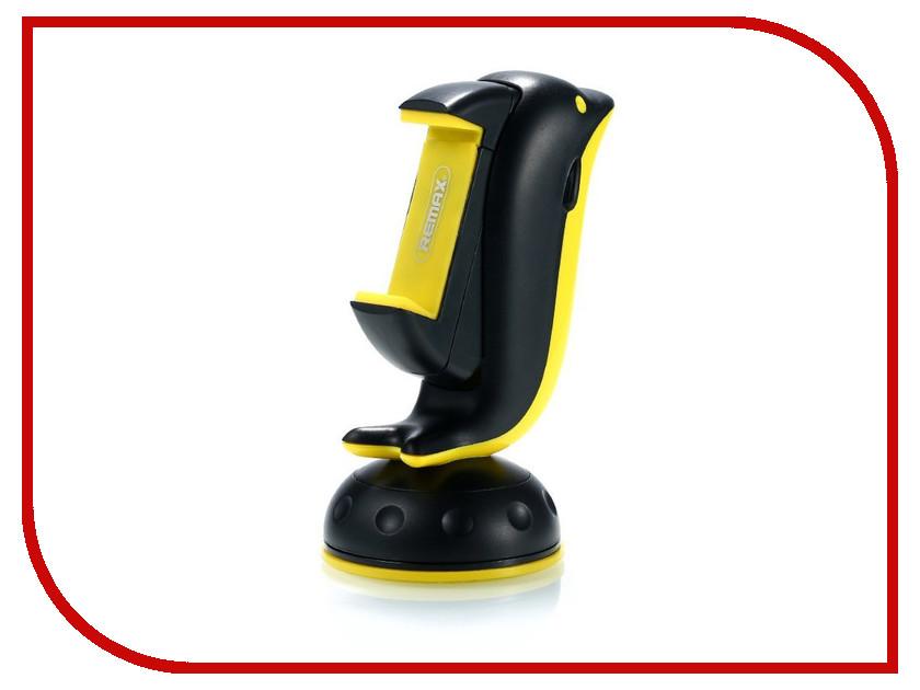 Держатель Remax RM-C20 Black-Yellow аксессуар remax 3 5mm share jack cable rm 000199