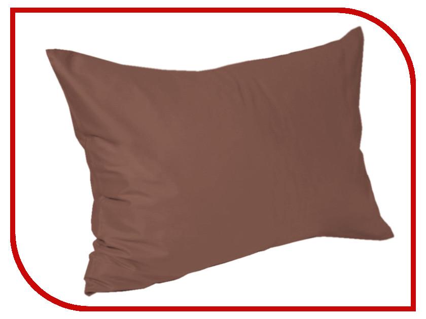 Наволочка Valtery 100-3A 50x70 Chocolate Сатин