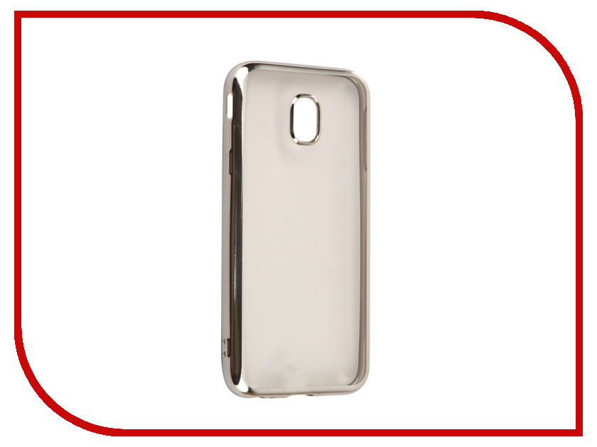 Аксессуар Чехол-накладка Samsung Galaxy J3 2017 SkinBox Silicone Chrome Border 4People Silver T-S-SGJ32017-008 аксессуар чехол накладка samsung galaxy j3 2016 skinbox silicone chrome border 4people dark silver t s sgj32016 008