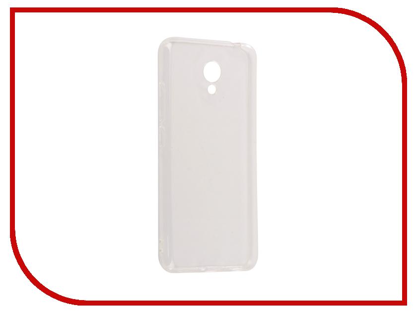 Аксессуар Чехол Meizu M5C SkinBox Slim Silicone 4People Transparent T-SMM5C-005 аксессуар чехол накладка samsung galaxy a3 2017 skinbox silicone chrome border 4people silver t s sga32017 008