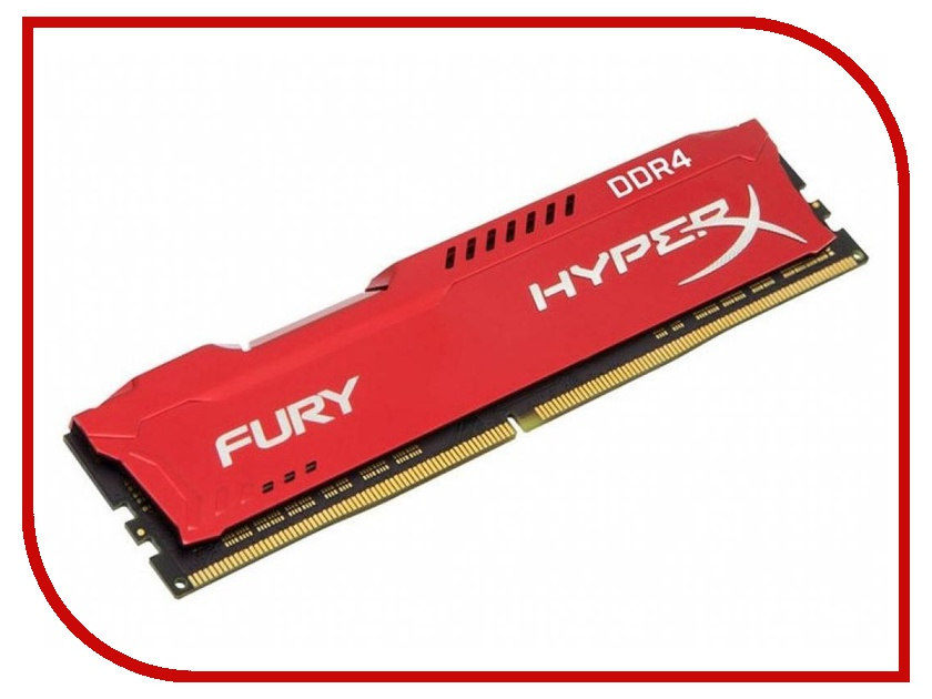 Модуль памяти Kingston HyperX Fury DDR4 DIMM 2133MHz PC4-17000 CL14 - 8Gb HX421C14FR2/8 память ddr4 kingston kvr21r15s8k4 16 4х4gb dimm ecc reg pc4 17000 cl15 2133mhz
