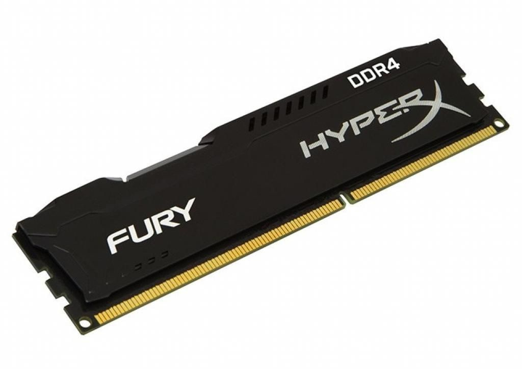 Модуль памяти Kingston HyperX Fury DDR4 DIMM 2400MHz PC4-19200 CL15 - 8Gb HX424C15FB2/8 стоимость