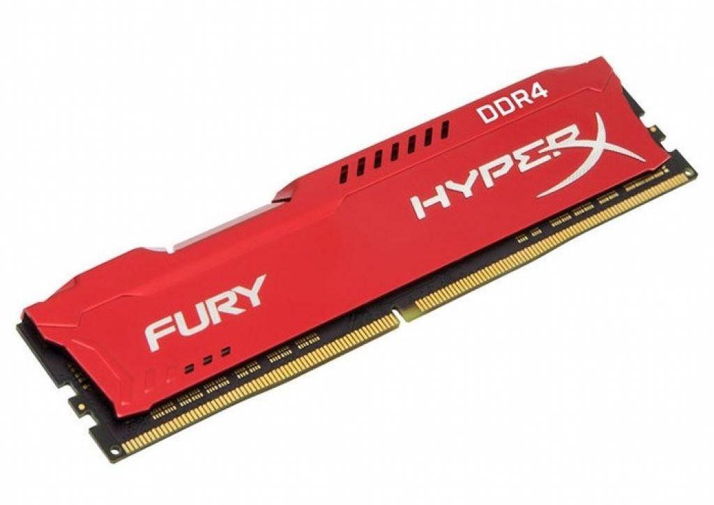 Модуль памяти Kingston HyperX Fury DDR4 DIMM 2400MHz PC4-19200 CL15 - 8Gb HX424C15FR2/8 цена и фото