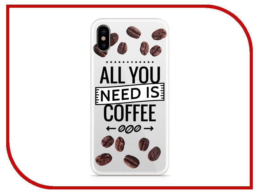 Аксессуар Чехол With Love. Moscow Silicone для Apple iPhone X Coffee 5001 чехлы для телефонов with love moscow силиконовый дизайнерский чехол для meizu m3s перья