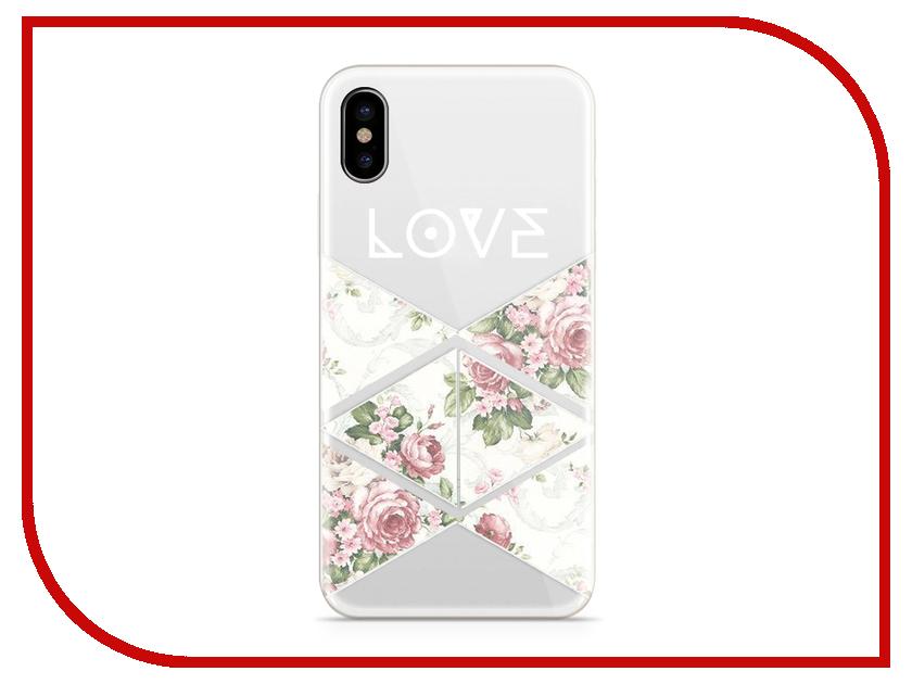 Аксессуар Чехол With Love. Moscow Silicone для Apple iPhone X Love 2 5007 love